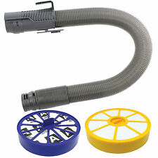 Grey Stretch Hoover Hose & Pre / Post Filter Kit for DYSON DC14 Vacuum Cleaner