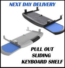UNDER DESK, PULL OUT SLIDING KEYBOARD SHELF WITH MOUSE PAD - BLACK OR GREY