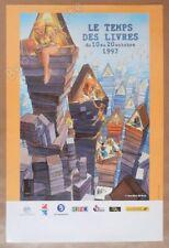 Affiche Poster Bourgeon Le temps des livres 1997 40x60 cm