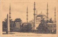 CPA TURQUIE CONSTANTINOPLE MOSQUEE AHMED ET HIPPODROME