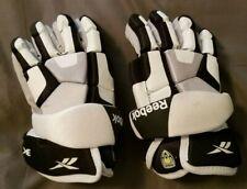 """Used Reebok 3K White/Gray/Black 10"""" Lacrosse Gloves 10B-Crt-Lg3K"""