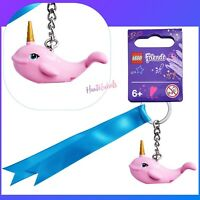 Lego Narwhal Bright Pink Whale with Pearl Gold Horn Animal Figure Minifigure