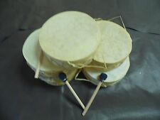 "5 Rawhide Drums, 7"" Wholesale set, Gift shops,Souvenirs, Southwest Decor,Crafts"