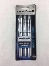 Uni-ball Designer Series Vision Elite Roller Bold Point Pens 3-Pack, Black