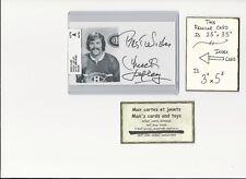 Chuck Lefley Montreal Canadiens AUTOGRAPH AUTO INDEX HOCKEY CARD 100% COA