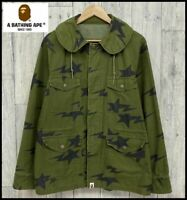A BATHING APE BAPE STA Military Jacket Green Size L Authentic