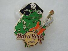 Hard Rock Cafe pin San Juan Pirate Green Tree Frog playing Guitar