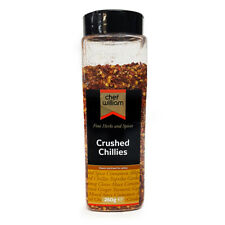 Crushed Red Chilli Flakes Medium Heat Chef William 260g Large Shaker Jar