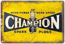 Spark Plugs Garage Service Station Mechanic Oil Gas Tune Up Rustic Metal Sign