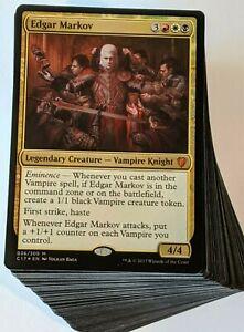 ***Custom Commander Deck*** Edgar Markov - Vampires Tribal - EDH Mtg Magic Cards