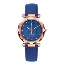 Ladies Fashion Korean Rhinestone Rose Gold Quartz Female Belt Wrist Watch