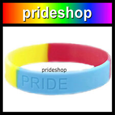 Pansexual Wristband Etched PRIDE Silicone Wrist Band #886