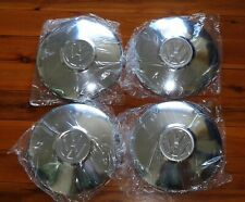 "4 x NEW 10 Inch 10"" 254mm Chrome VW Dog Dish Hub Cap Hubcaps OEM Mexico Vintage"