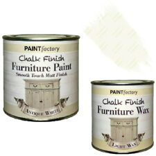 Paint Factory Chalk Chalky Furniture Paint 250ml Antique White + 0.2L Clear Wax