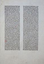 JOHANN VON WESTFALEN INKUNABELBLATT LOUVAIN LÖWEN SERMONES HUGO PRATO 1484