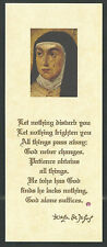 holy card relics de Santa Teresa image pieuse estampa santino
