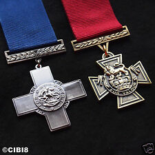 VICTORIA CROSS + GEORGE CROSS MEDAL SET HIGHEST MILITARY MEDAL UK BRAVERY COPY