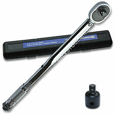 "Dual Drive 1/2"" and 3/8"" Micrometer Torque Ratchet Wrench Supplied in Case"