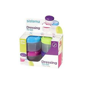 Sistema To Go Collection 1.18 oz. Salad Dressing Containers,