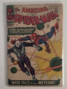 Amazing Spiderman 36 VG+ 4.5-5.0 1st App Looter 1966 Key Issue , Avengers