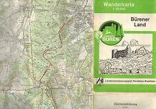 farb Wanderkarte 1:50000 Bürener Land Waldkreis Büren, Landesvermessungsamt 1973