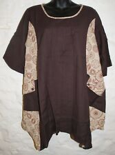 New Fair Trade Smock Top 22 24 Hippy Ethnic Cotton Hippie Ethical Boho Gypsy