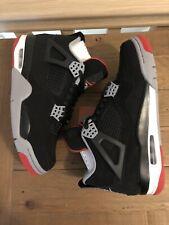 Jordan 4 Bred Uk7 Us8 Authentic Deadstock Air Nike 2019 Retro Black Red Grey