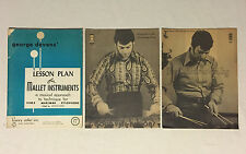 Lot of 3 Vintage Mallet Lesson Instruction Books, Vibraphone, Marimba, Xylophone