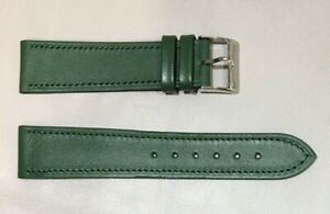Pulsera Correa de Reloj Piel Legítima Cuero 20 mm Verde   Watchband 240