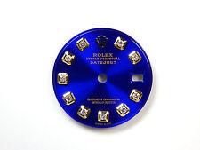 Ladie's Rolex Datejust 2Tone Glossy Blue Custom Diamond Dials