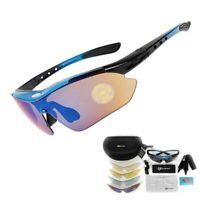 Lunettes verres polarisés 5 lentilles UV 400 pour cyclisme vélo VTT sport