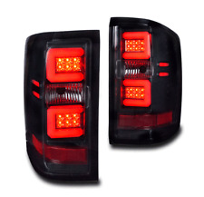 2014-17 CHEVY SILVERADO 1500/2500HD/3500HD REAR LED TAIL BRAKE LIGHTS LAMP BLACK