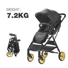 Allis Baby Pram Pushchair Travel System Buggy Stroller 2 in1 From Newborn - Grey