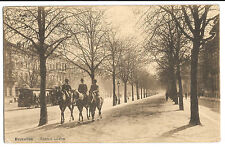 Brussels; Avenue Louise PPC 1921 PMK to Paddington London W/ Tram & Horseriders