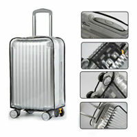 """20/22/24/26/28/30"""" Clear PVC Protective Travel Luggage Suitcase Case Cover New"""