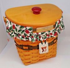 Longaberger 1998 Glad Tidings Christmas Collection Basket Combo Green