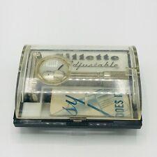 Gillette Adjustable Safety Razor Fat Boy Original Case & Directions 1959 Vintage