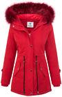 Chaqueta de mujer PARKA chaquetón invierno piel sintética Capucha Forrada abrigo
