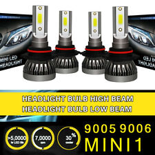 9005 9006 Head Lamp LED Coversion Light Bulb 2Pair High Beam 97500LM 650W White