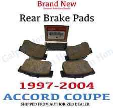 1997-2004 Honda ACCORD COUPE EX, LX Genuine Factory OEM Rear Brake Pad Set