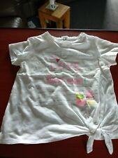Zara Baby Girls White Tshirt It Was Love at First Sight.  12-18 Months