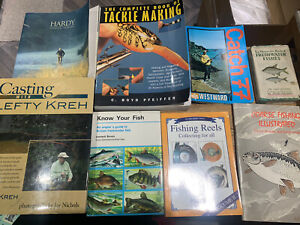 FISHING CASTING TACKEL FLY COARSE REELS BOOKS BUNDLE HARDY BUNDLE LEFTY