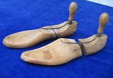 Antique AMCO Wood Shoe Trees Stretchers Turned Handles Original True Vintage