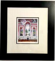 "LITHOGRAPH RARE FERJO ""The Red Room"" CUSTOM FRAMED SIGNED ART FERNANDO OLIVIERA"