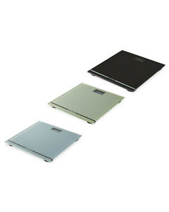SALTER LARGE DISPLAY GLASS ELECTRONIC DIGITAL BATHROOM SCALES, Colour Choice