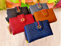 Women Girl Short medium Wallet Lady Leather Folding Coin Card Holder Money Purse