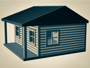 """""""The Outdoor Series"""" - Cabin #5 - Camping - Modeled in Color - Z Scale 1:220  3D"""