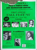 ARKANSAS FALL BLUES/SOUL POSTER: BOBBY RUSH Vernon Garrett, local bands pictured