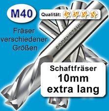 Fräser 10mm 3S.95mm Edelstahl Alu Messing Kunstst. hochlegierte Qualität M40