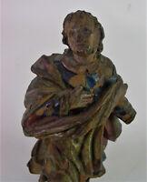 - antike Schnitzfigur - 18./19. Jhd - Reste alter Fassung - Restaurierungsobjekt